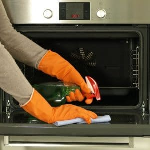 Oven cleaning with supermarket cleaner